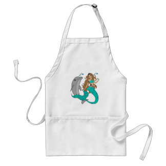 Mermaid with Dolphin Standard Apron