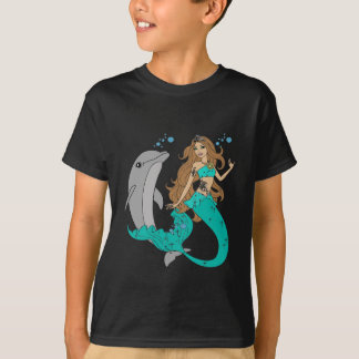 Mermaid with Dolphin T-Shirt