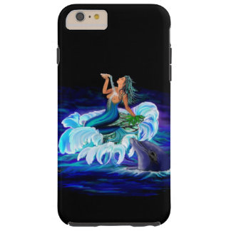 Mermaid with Dolphin Tough iPhone 6 Plus Case
