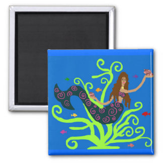 Mermaid with fish magnet