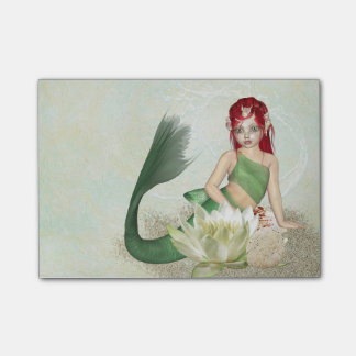 Mermaid With Flower Post-it® Notes