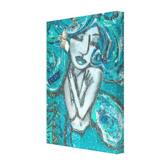 Mermaid Wrapped Canvas
