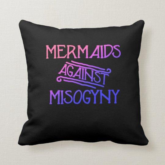 Mermaids against misogyny cushion