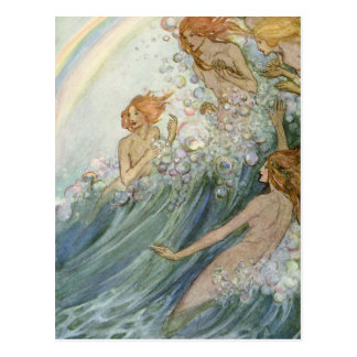Mermaids and a Rainbow, Postcard