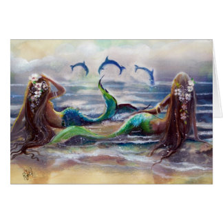 Mermaids and Dolphins Card