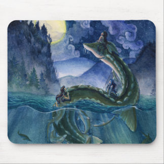 Mermaids and River Serpent Mousepad