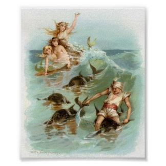 Mermaids Cheer Dolphin Rescue, Poster