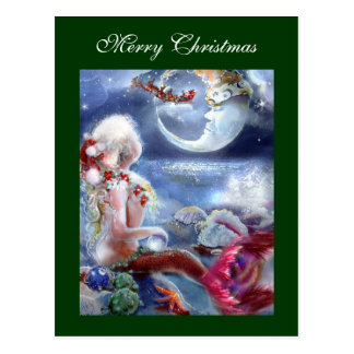 Mermaid's Christmas Eve Postcard