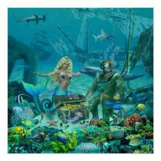 Mermaid's Coral Reef Treasure