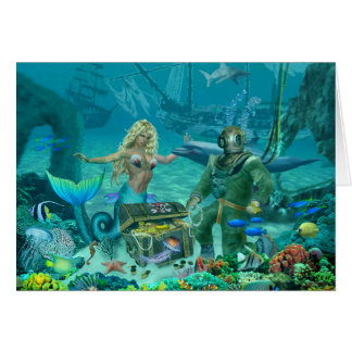 Mermaid's Coral Reef Treasure Card