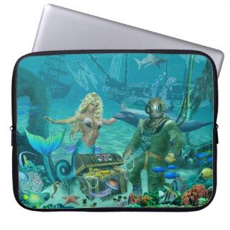 Mermaid's Coral Reef Treasure Laptop Sleeve