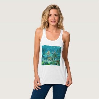 Mermaid's Coral Reef Treasure Singlet