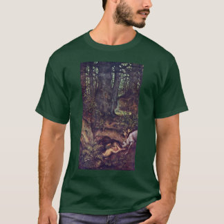 Mermaids Deer Mortifying By Schwind Moritz Von T-Shirt
