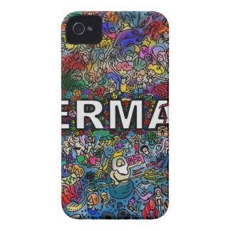 Mermaids Doodle iPhone 4 Cases