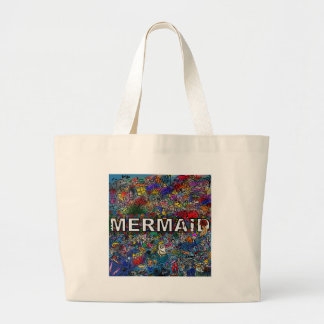 Mermaids Doodle Large Tote Bag
