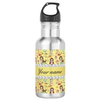 Mermaids Faux Gold Foil Bling Diamonds 532 Ml Water Bottle