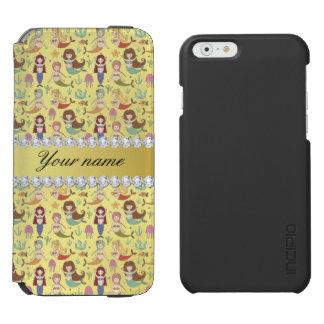 Mermaids Faux Gold Foil Bling Diamonds Incipio Watson™ iPhone 6 Wallet Case