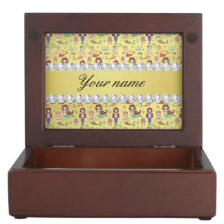 Mermaids Faux Gold Foil Bling Diamonds Memory Boxes