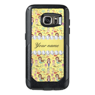 Mermaids Faux Gold Foil Bling Diamonds OtterBox Samsung Galaxy S7 Case