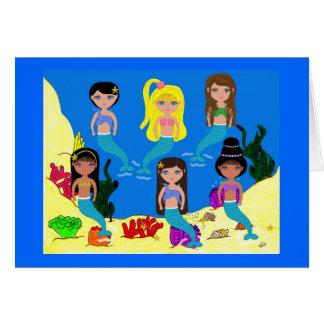 Mermaids from around the World Greeting Card