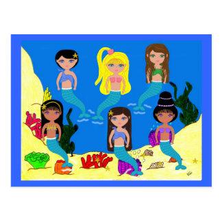 Mermaids from around the World Postcard