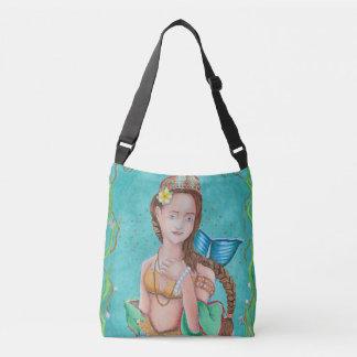 Mermaid's Garden All-Over Print Cross-Body Bag