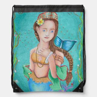 Mermaid's Garden Drawstring backpack