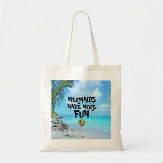 Mermaids Have More Fun Seascape Tote Bag