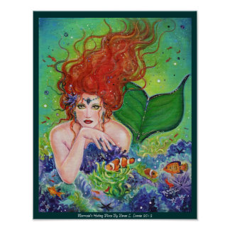 Mermaids Hiding Place poster by Renee L. Lavoie