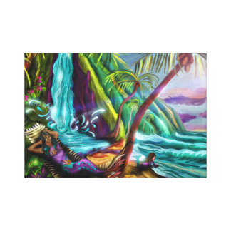 Mermaids In Paradise Canvas Print