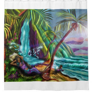 Mermaids In Paradise Shower Curtain