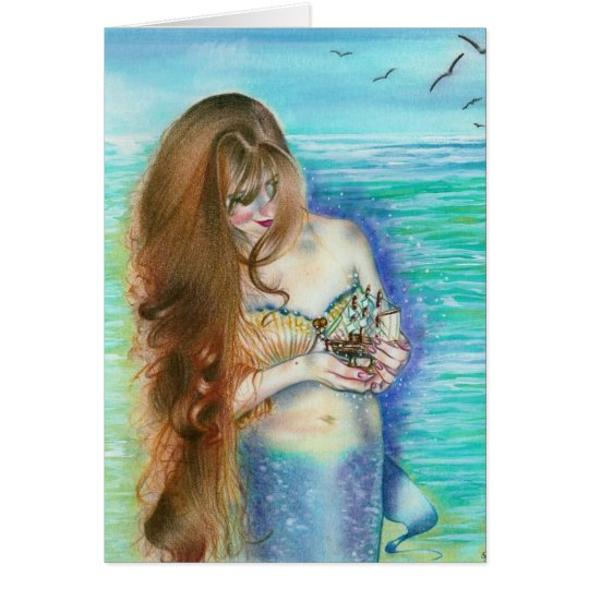 Mermaid's Keepsake Card