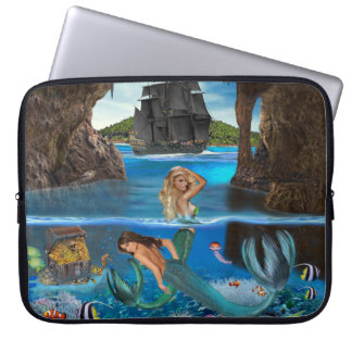 MERMAIDS OF THE PIRATE CAVE LAPTOP SLEEVE
