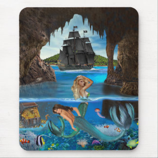 MERMAIDS OF THE PIRATE CAVE MOUSE PAD