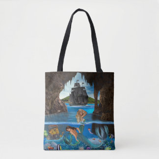 MERMAIDS OF THE PIRATE CAVE TOTE BAG