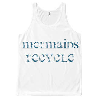 Mermaids Recycle Tank Top for all Mermaid Fans! All-Over Print Tank Top