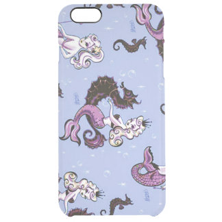 Mermaids & Seahorses Clear iPhone 6 Plus Case