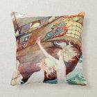 Mermaids Sisters and Ship Cushion