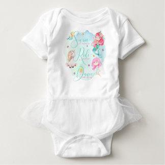 """Mermaids, Unicorn, Fairies"" Baby Tutu Bodysuit"