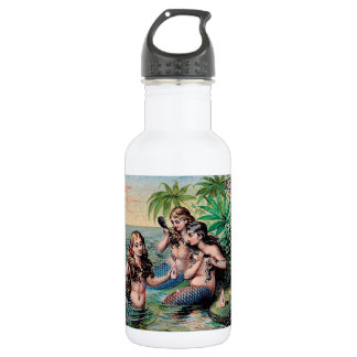 Mermaids Victorian Vintage Illustration Artwork 532 Ml Water Bottle