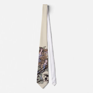 Mermaids Vintage Victorian Illustration Tie