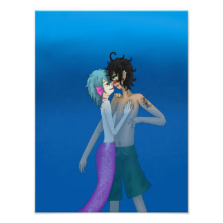 Merman Josh and Swimmer Lawrence Poster