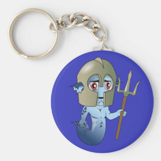 Merman Neptune's Warrior Key Ring