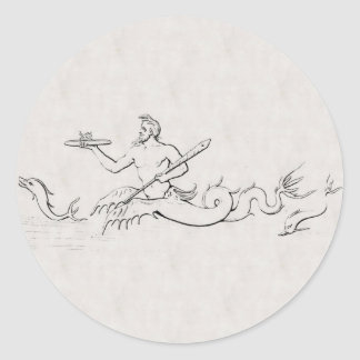 Merman Round Sticker