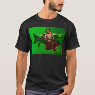 Merman with Sea Turtle Men's T-Shirt