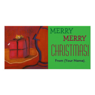 Merr Merry Christmas Customizable Notecard Personalized Photo Card