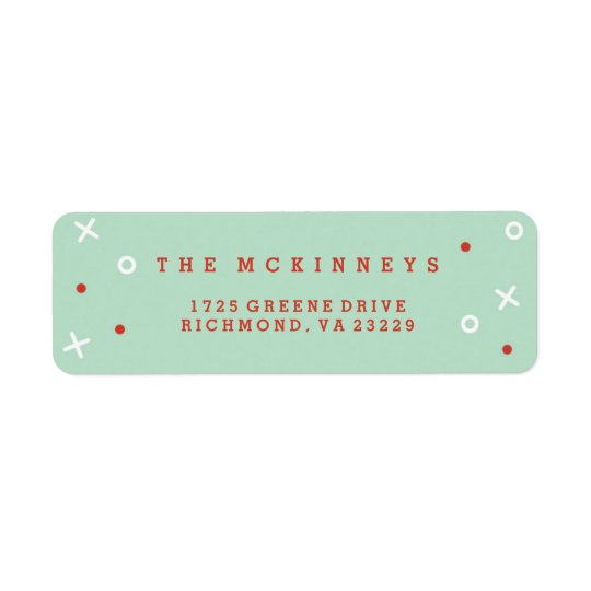 Merriest Christmas Holiday Address Label