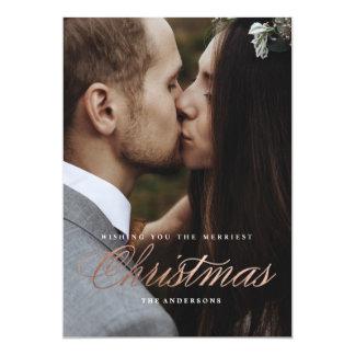 Merriest Christmas Holiday Card 13 Cm X 18 Cm Invitation Card