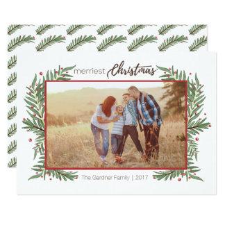 Merriest Christmas Holly Card