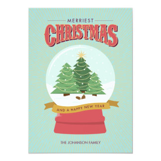 Merriest Christmas Snow Globe Card